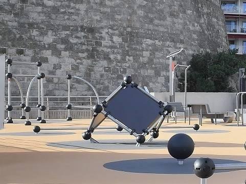 Parkour et sport en plein air sur la Nouvelle Digue