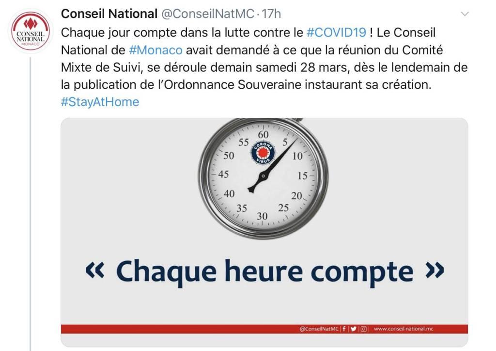 Le Conseil National «regrette» le rythme du Gouvernement face au coronavirus