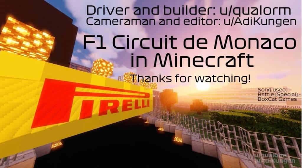 Ils Construisent Le Circuit de Monaco sur Minecraft !