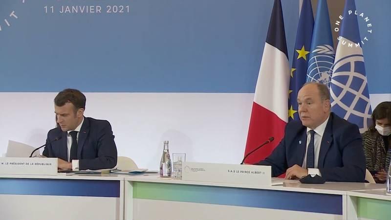 Le Prince Albert participe au One Planet Summit