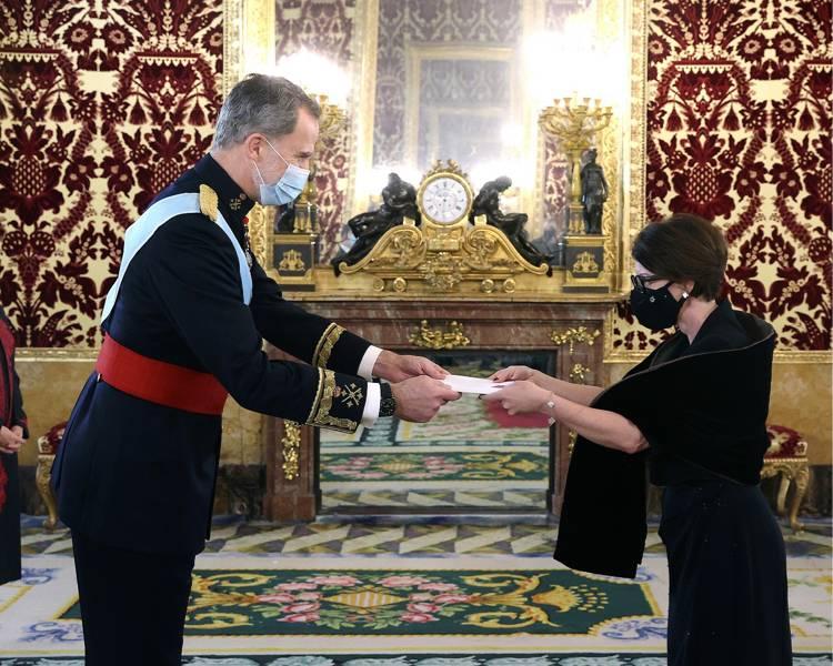 L'Ambassadeur de Monaco remet ses lettres de créance au Roi d'Espagne
