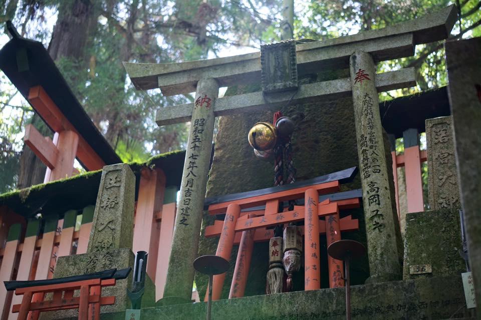 visiting fushimi inari fox shrine