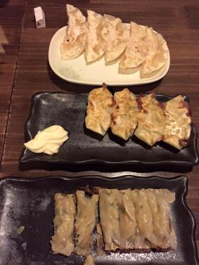 Pork, shrimp, and mozzarella chicken gyoza at Chao Chao |Kyoto, Japan