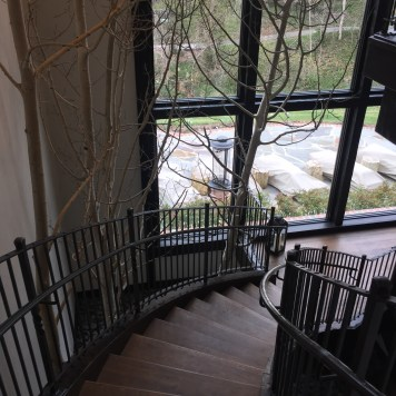Staircase to the gratto pool and spa areas