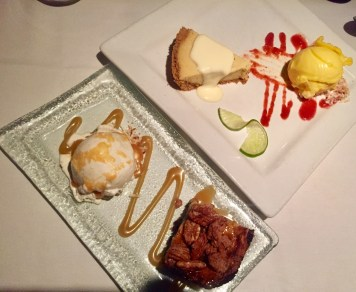 Chocolate Gooey Butter Cake and Key Lime Pie with Mango Sorbet