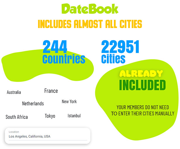 DateBook - Dating WordPress Theme. All countries and cities included.