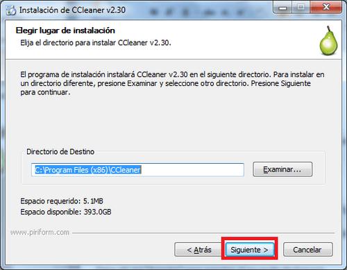 Ubicación-CCleaner