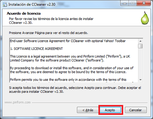 Licencia-CCleaner