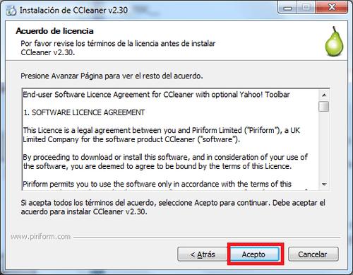 Licencia-CCleaner
