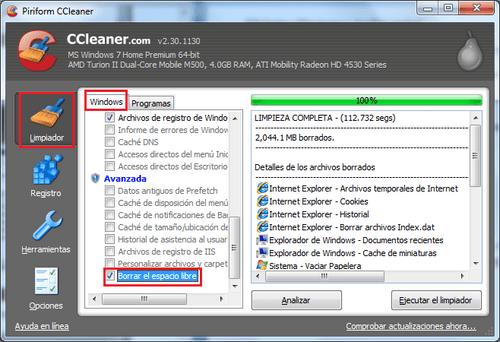 Borrar-espacio-libre-CCleaner