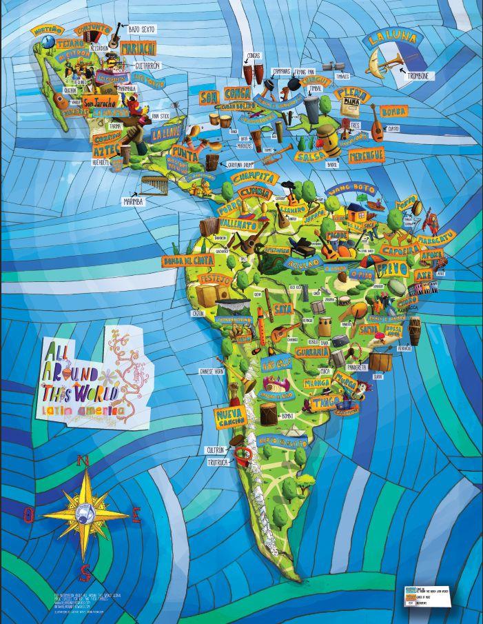 mapa música latinoamericana
