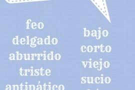 antónimos en español