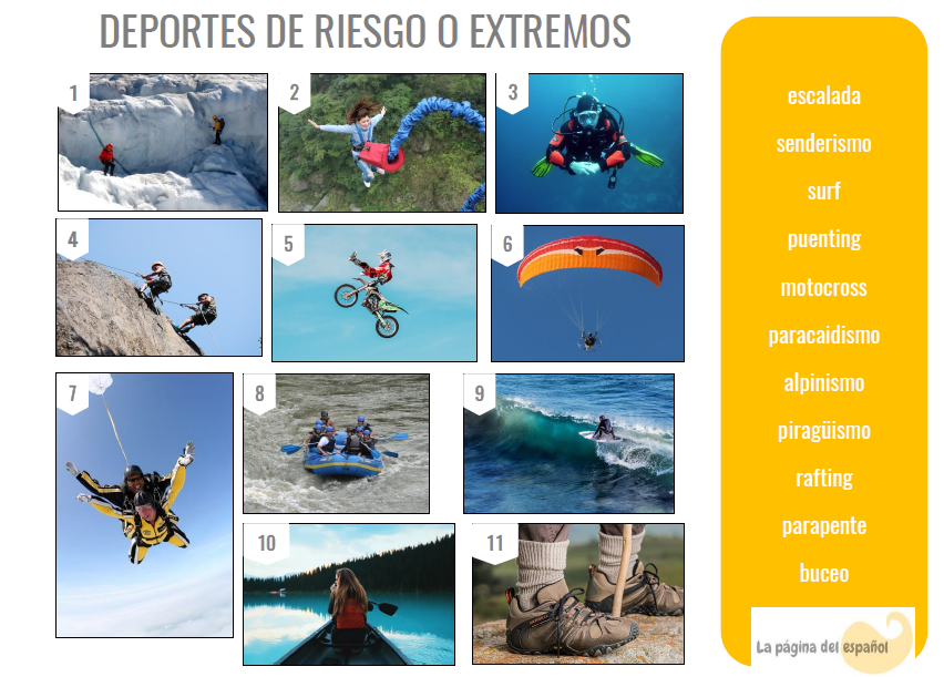 extreme sports in Spanish