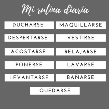 rutina diaria español