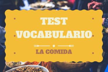 Test vocabulario sobre la comida