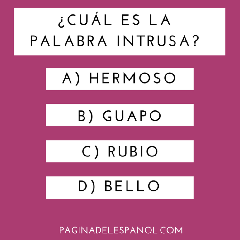 Palabra intrusa
