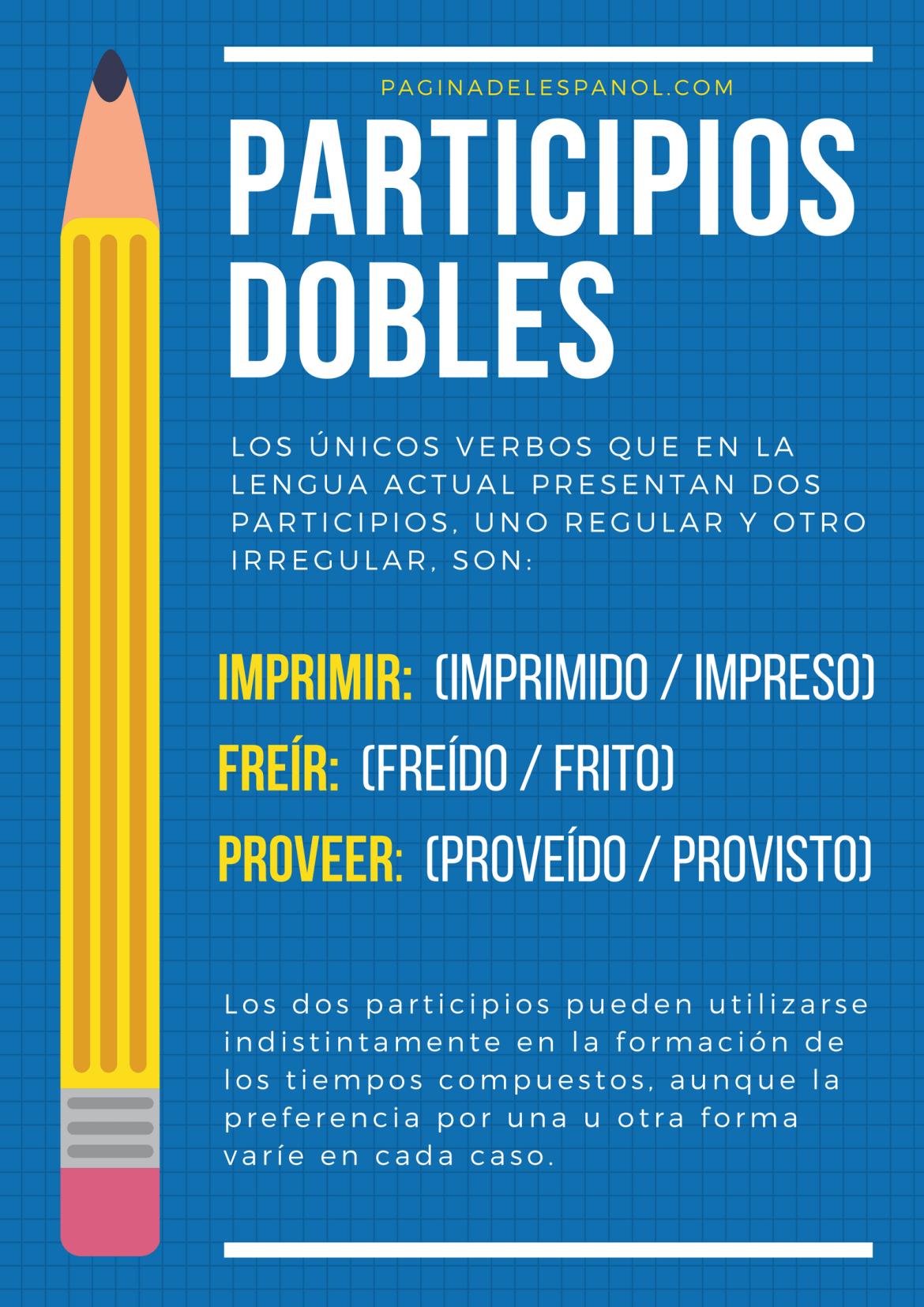 Participios dobles del español