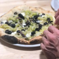 pizza olive e cipolla playa del ingles