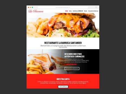Página Web Restaurante La Barruca Santander