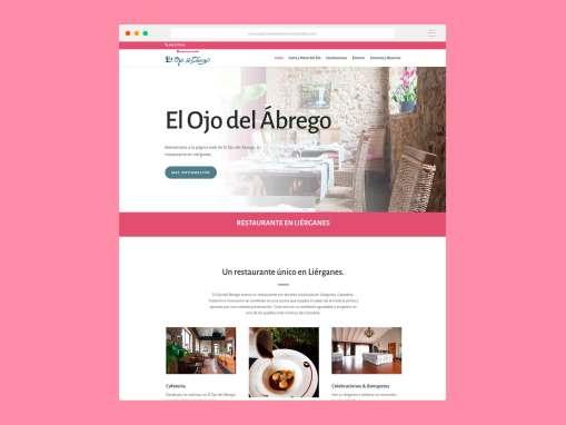 Paginas Web Restaurante El Ojo del Ábrego Liérganes