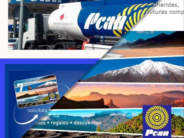 Desarrollo web, cliente: PCAN – Petrolífera de Canarias