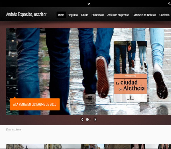 Desarrollo web, cliente: Andrés Expósito – Escritor