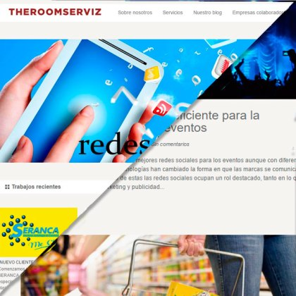 Desarrollo web, cliente: The Room Serviz