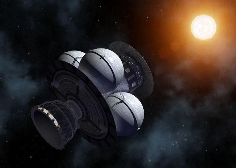L'astronave del Progetto Daedalus giunge in vista della stella di Barnard (illustrazione artistica). Credit: Adrian Mann