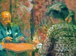 The Game of Bridge - The Salon at the Clos Cêzanne (1923) di Édouard Vuillard (1868-1940)