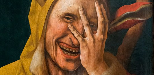 Laughing Fool ca. 1500. Netherlandish (possibly Jacob Cornelisz. van Oostsanen)