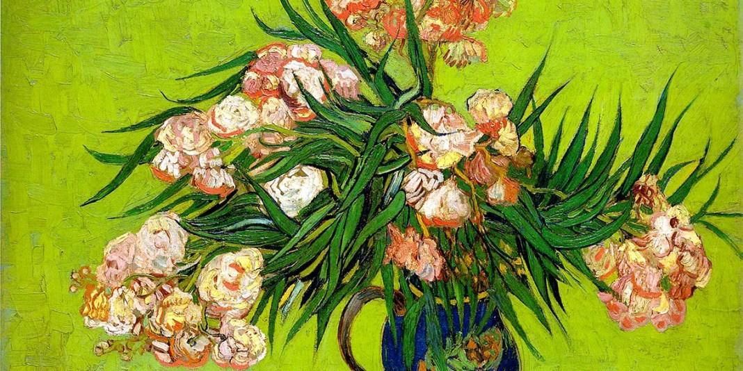 Oleanders and Books. Vincent van Gogh