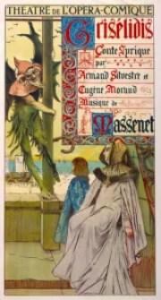 Poster for Jules Massenet's Grisélidis. François Flameng
