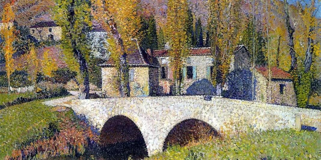 The Bridge in Labastide du Vert. Henri Martin