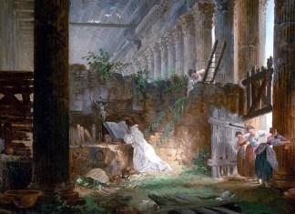 A Hermit Praying in the Ruins of a Roman Temple. Hubert Robert