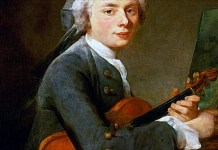 Young Man with a Violin (Portrait of Charles Theodose Godefroy). Jean-Baptiste-Simeon Chardin