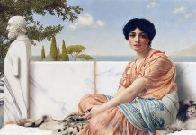 In the Days of Sappho di John William Godward