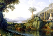 Landscape with Motifs of the English Garden in Caserta. Jacob Philipp Hackert