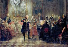 Flute Concert with Frederick the Great in Sanssouci. Adolph Menzel