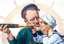 Sailors (1922). Norman Rockwell