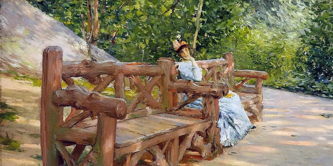 Park Bench. William Merritt Chase