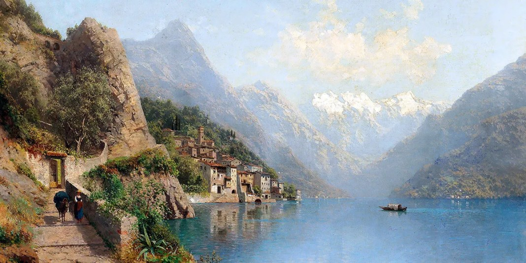 """Gandria on Lake Lugano"" di Robert Schultze."
