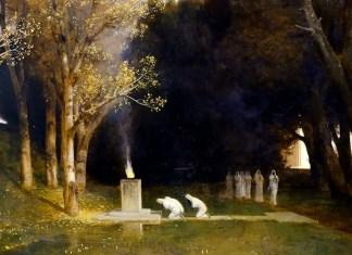 Arnold Böcklin, Il bosco sacro, 1882