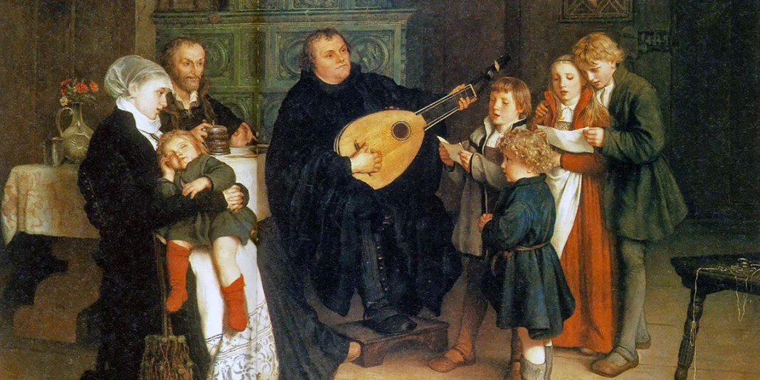 Luther Making Music in the Circle of His Family. Gustav Spangenberg