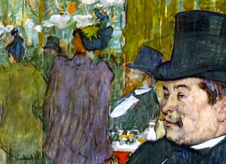 M. Delaporte at the Jardin de Paris. Henri de Toulouse-Lautrec