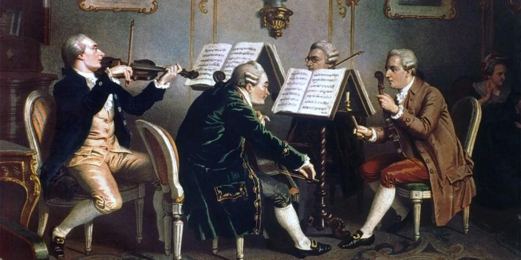 18th century. String quartet. Prague (Museum of Mozart And Duschek)