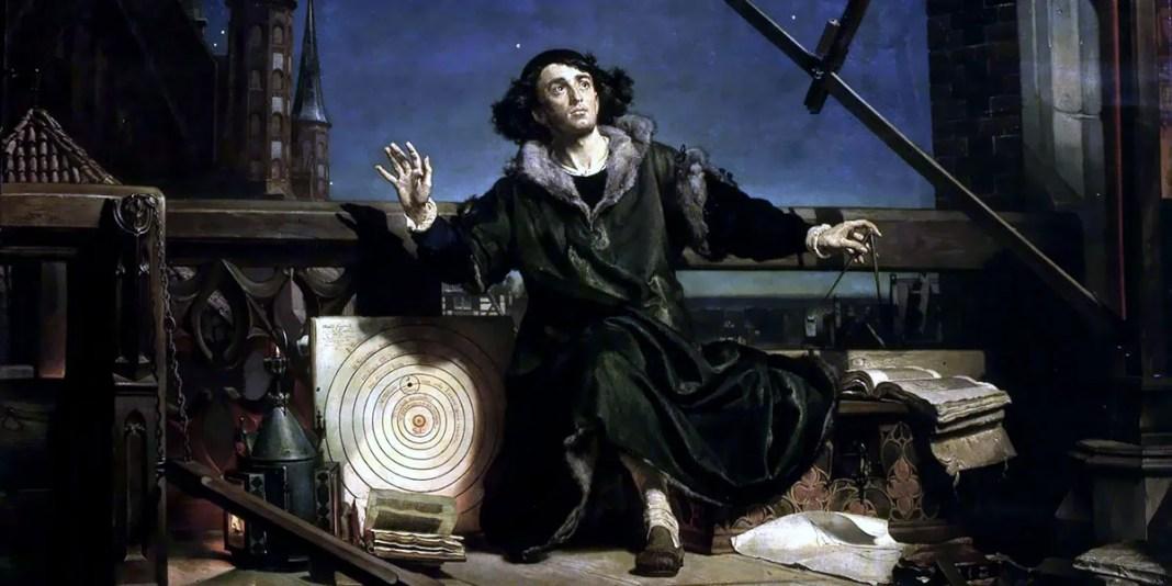 Astronomer Copernicus, conversation with God. Jan Matejko