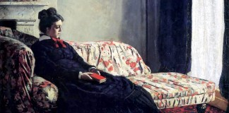 Meditation, Madame Monet Sitting on a Sofa. Claude Monet