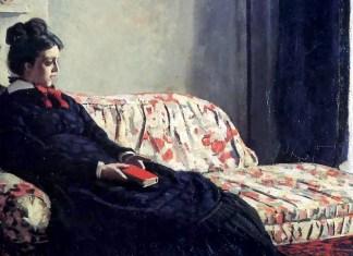 Meditation, Madame Monet Sitting on a Sofa. Claude Monet