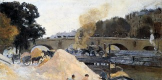 The Banks of the Seine in Paris, Pont Marie, Quai d'Anjou. Camille Pissarro