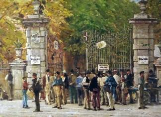 Filippo Carcano, L'ora del riposo durante i lavori dell'Esposizione del 1881